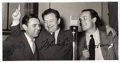 Jaroslav Jezek with Jan Werich and George Voskovec